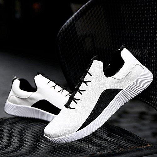 Tamaño Hombres Verano Hombres Zapatos Zapatos Hombres Moda ALIKEEY Blanco Casuales De Planos Zapatos Grande Transpirable agfn5aTwqA