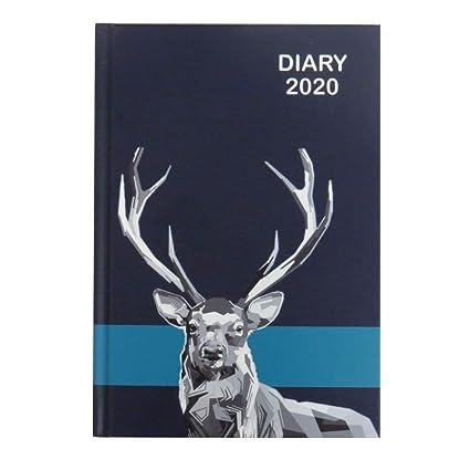 Agenda de vista semanal A5 2020, diseño de ciervo o colibrí ...