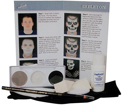 Mehron Skeleton Makeup Character (Skull Face Paintings For Halloween)