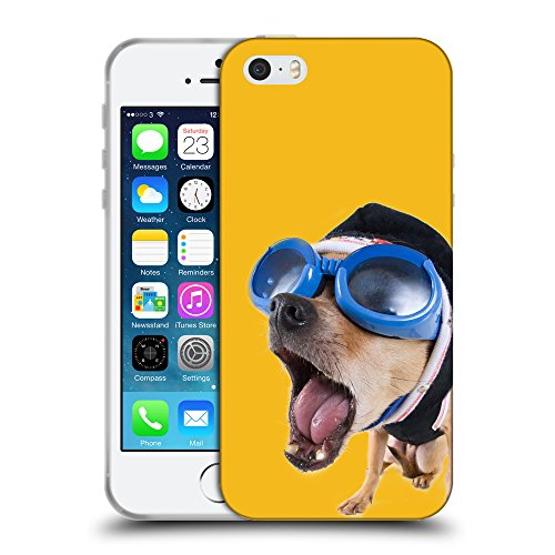 GoGoMobile Coque de Protection TPU Silicone Case pour // Q05640602 Chihuahua bobble Ambra // Apple iPhone 5 5S 5G SE
