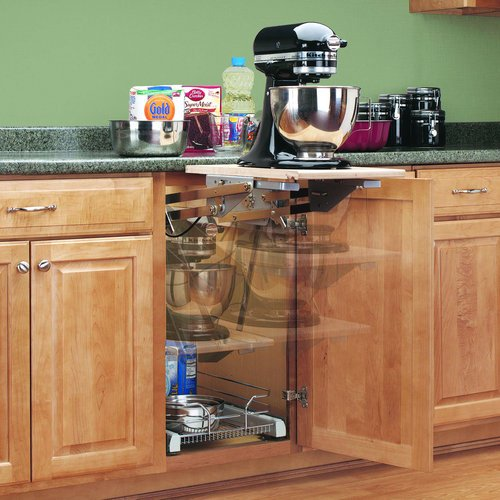 rev a shelf ras ml hdcr full height base cabinet heavy duty mixer lift - Kitchen Cabinet Accessories