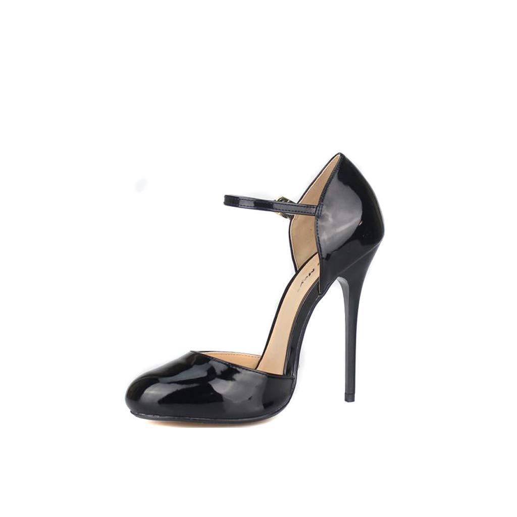 A Monochrome Lace High Heels Unisex Large Size Sandals