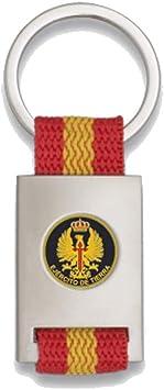 Tiendas LGP Albainox- Llavero Bandera DE ESPAÑA y Emblema Ejercito de Tierra, Plateado: Amazon.es: Equipaje