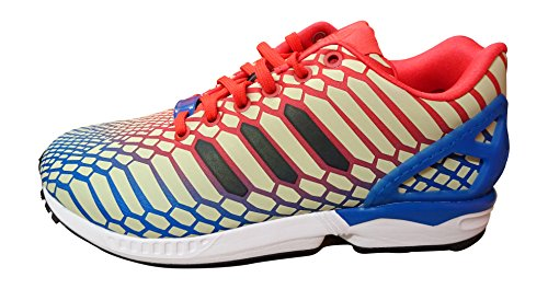 Adidas Zx Flux, Baskets Herren Wei? Or Blanc Vert Bb5477 36,5 Rouge Eu / Noir