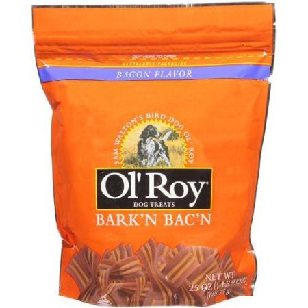 Ol Roy Bark N Bacon 25 oz.Are A Fun And Healthy Way To Treat Or Reward Your Pet (3bag)