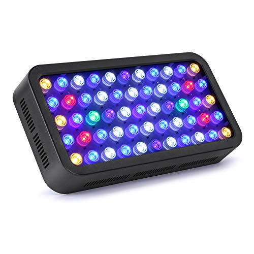 Roleadro LED Aquarium Light, Dimmable Coral Reef Led Light 165W for Fish Tank, Full Spectrum Coral Reef Grow Light Suitable for 55-75 Gallon Freshwater and Saltwater Galaxyhydro 120w Led Aquarium Light