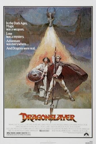 Dragon Slayer Poster - Dragonslayer Movie Poster 11x17 Master Print