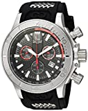 Invicta Men's 'Jason Taylor' Quartz Stainless Steel and Polyurethane Casual Watch, Color:Black (Model: 19575)