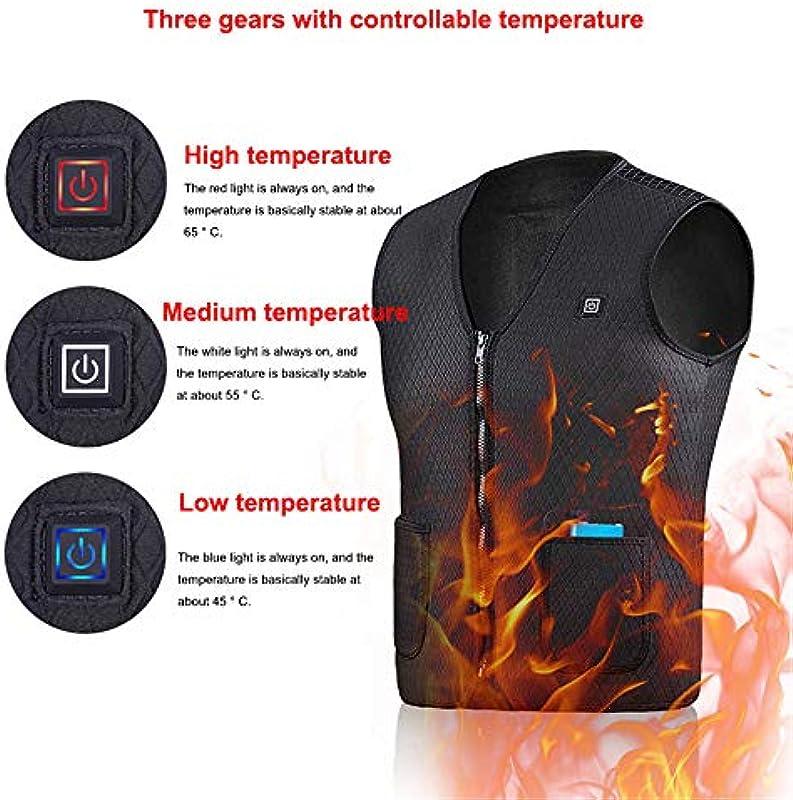 Kamizelka podgrzewana USB, 3 ustawienia temperatury, lekka, nadająca się do prania, poduszka grzewcza na wędrÓwki, polowania, jazdę na motocyklu, kemping (baterie nie są zawarte w zestawie), bia&