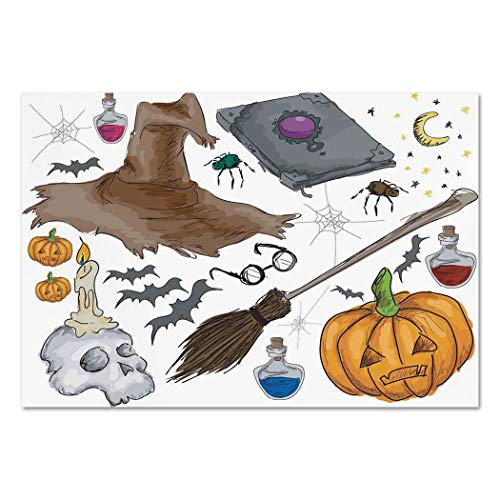 Large Wall Mural Sticker [ Halloween Decorations,Magic Spells