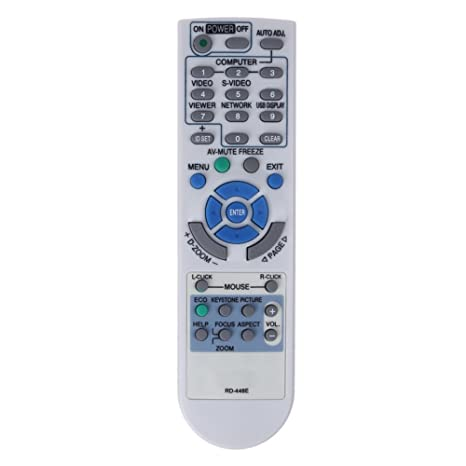 Array - rrimin remote controller for nec projector v260x  v300x  v260 rd 448e rd 443e  rh   amazon in