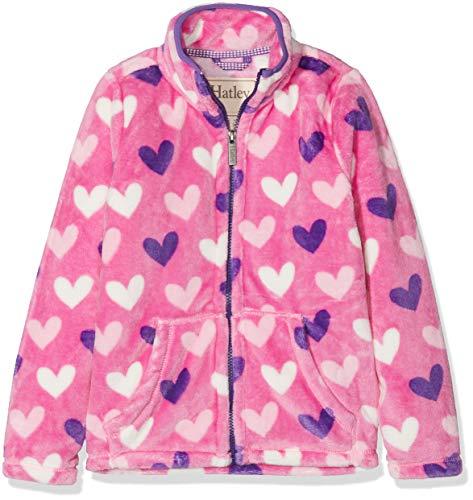 Hatley Girls' Little Fuzzy Fleece Full Zip Jackets, Multi Hearts, 6 Years ()