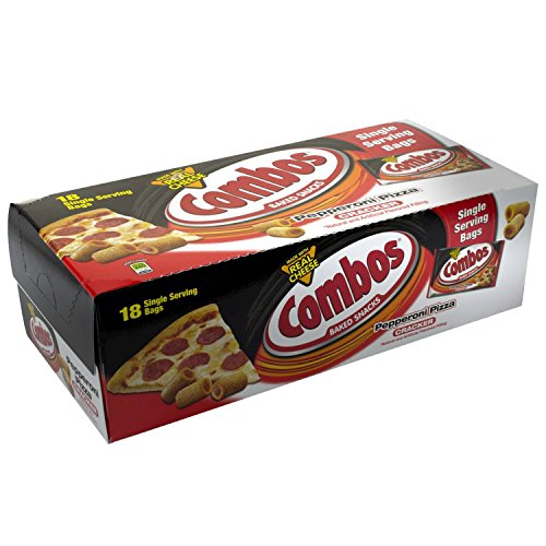 (Combos Pepperoni Pizza Cracker Baked Snacks 1.7-Ounce Bag 18-Count Box)