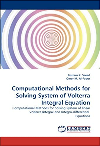 Computational Methods for Solving System of Volterra Integral