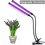 Dual Head LED Grow Light Grow Light Lamp Aokey 20W 36 LED 2 Dimmable Levels Plant Grow Lamp with Adjustable 360 Degree Gooseneck for Indoor Plant Hydroponic Greenhouse Gardening