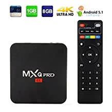 Original MXQ PRO 4K Android TV Box,Smart Mini Pc Quad Core Lollipop Amlogic S905 1GB/8GB 2.4G WIFI HDMI Media Player