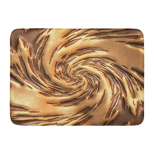 Emvency Bath Mat Cracks Colorful Abstract Luxury with Embossed Pattern on Leather Beauty Delicate Bathroom Decor Rug 16