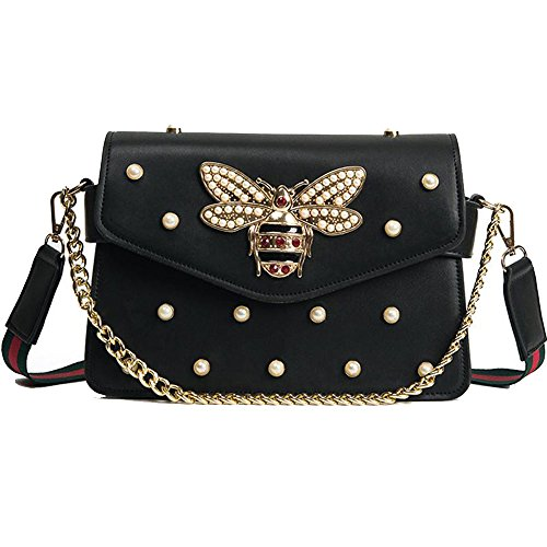 Women Messenger Bags Little bee Handbags crossbody bags Shoulder Bags Designer Handbags with pearl (Pearl Designer)