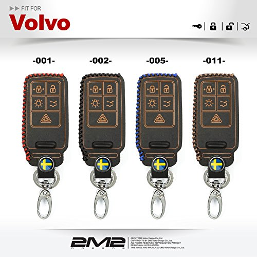 2M2 Smart KEYLESS Leather Keyfob Holder Case Chain Cover FIT for Chrysler Pacifica 7B 002