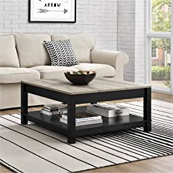 Langley Bay Chic Style Coffee Table, Black