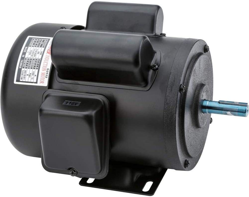 Grizzly Industrial G2532 - Heavy-Duty Motor 1 HP Single-Phase 1725 RPM TEFC 110V/220V