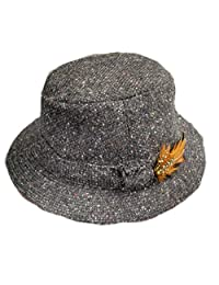Hanna Hats Men's Donegal Tweed Original Irish Walking Hat