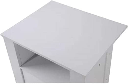 Sturdy End Table Haledon Manufactured Wood Sturdy End Table Square Modern Knobs Provides Cabinet And Open Shelf For Storage White Amazon Ca Home Kitchen