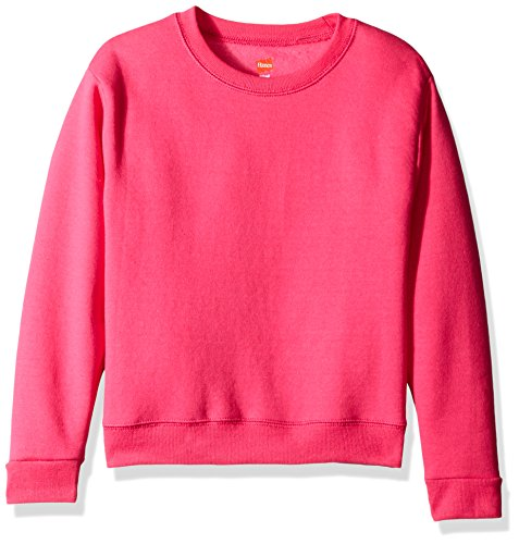 Hanes Big Girls' Comfortsoft Ecosmart Fleece Sweatshirt, Amaranth, S