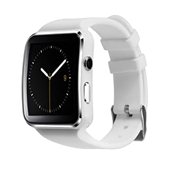 Aubess Smart Watch Sport Passometer X6 Soporte Tarjeta SIM con cámara Whatsapp Facebook Smartwatch para teléfono Android