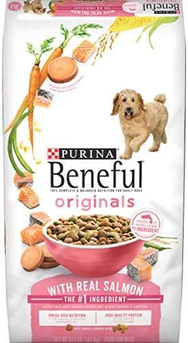 Purina Beneful Dry Dog Food, Originals Real Salmon With Sweet Potatoes, Green Beans & Carrots - 31.1 lb. Bag