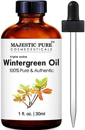 Majestic Pure Wintergreen Essential Oil, 1 Fluid Ounce