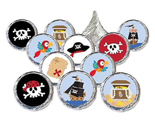 Sticker Treasure - Pirate Birthday Party Favor Stickers, 324 Count