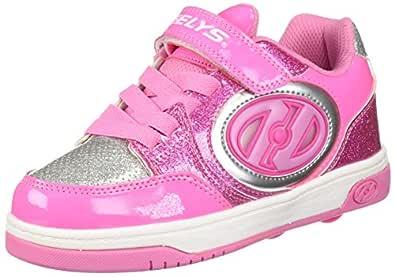 Heelys Girls' Plus X2 Lighted, Pink/Silver, 1
