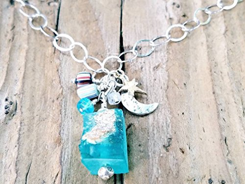 Roman Glass and Sterling Silver Necklace