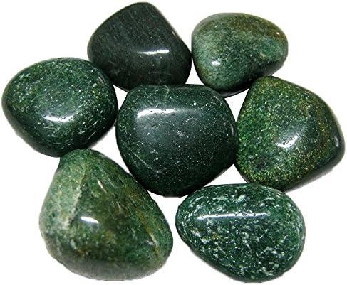 Prisha Mica verde piedras decorativas, piedras, piedras brillantes para decoración del hogar, jardín, jarrón relleno, 2, 2 libras: Amazon.es: Jardín
