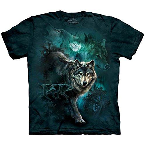 The Mountain Unisex Kinder Night W�lfe Wolf T Shirt