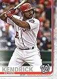 2019 Topps #610 Howie Kendrick Washington Nationals Baseball Card
