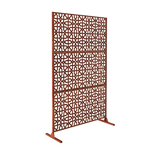 Veradek Parilla Decorative Screen Set w/Stand - Corten Steel