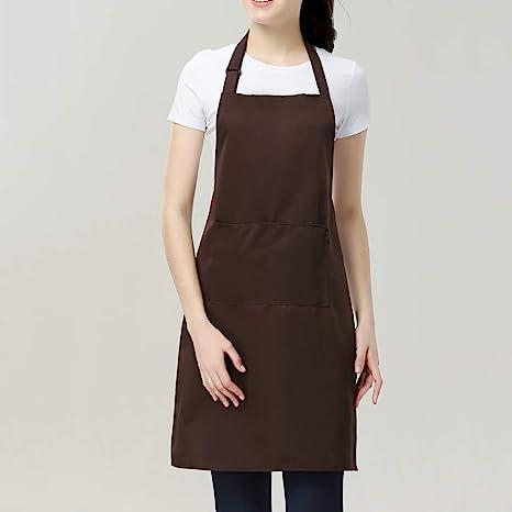 Amazon Com Yq Whjb Aprons Adjustable Neck Adult Bib Apron Pockets Plus Size Resist Water Unisex Home Cooking Chef Servers Kitchen Aprons A Home Kitchen