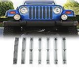 03 wrangler tj grille inserts - E-Autogrilles Billet Front Grille Vertical Overlay for 97-06 Jeep Wrangler TJ