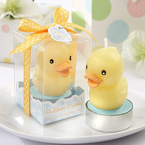 Rubber Ducky Candle Baby Shower Favor, Wedding Favor gift 100 pieces ()