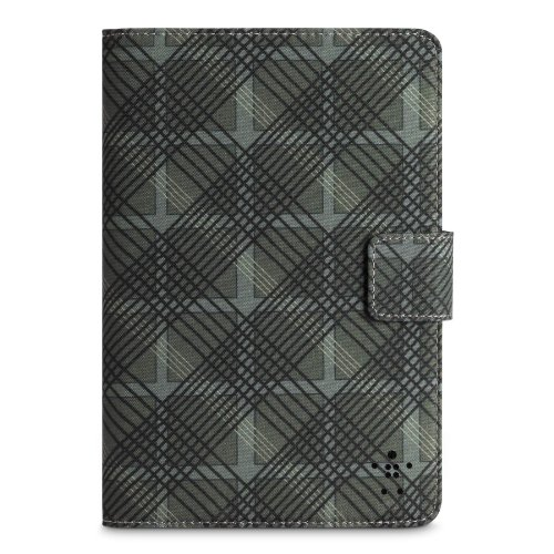 Belkin Tartan Cover Folio with Stand for Apple iPad mini, Black (F7N016ttC00) by Belkin