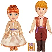 Disney Frozen 2 Anna & Kristoff Dolls Proposal Gift Set, Comes with Ring & Ring Box! Features Authenti