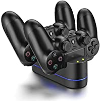Playstation 4 Charger Kit, PS4 Dual USB Charging Charger...