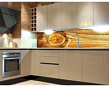 Küchenrückwand Folie selbstklebend HOLZ KNOTEN 180 x 60 cm ...