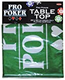 Pro Poker Table Top Green Felt Playing Surface by Tactic Games UK