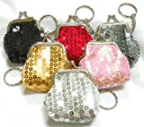 Mini Sequin Coin Purse Keychain - 6 Pack