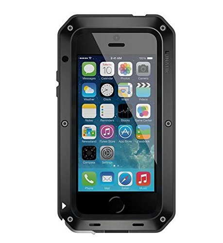 info for 4b51d 74d3d Lunatik TT5H-001 Taktik Extreme Premium Protection System with Corning  Gorilla Glass for iPhone 5 - 1 Pack - Retail Packaging - Black