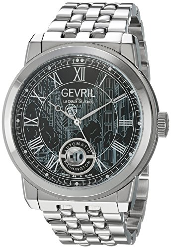 Gevril-Mens-Washington-Swiss-Automatic-Stainless-Steel-Casual-Watch-ColorSilver-Toned-Model-2621B