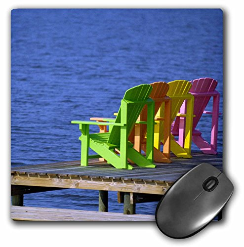 Price comparison product image 3dRose LLC 8 x 8 x 0.25 Adirondack Chairs Orange Beach Alabama USA Franklin Viola Mouse Pad (mp_87277_1)